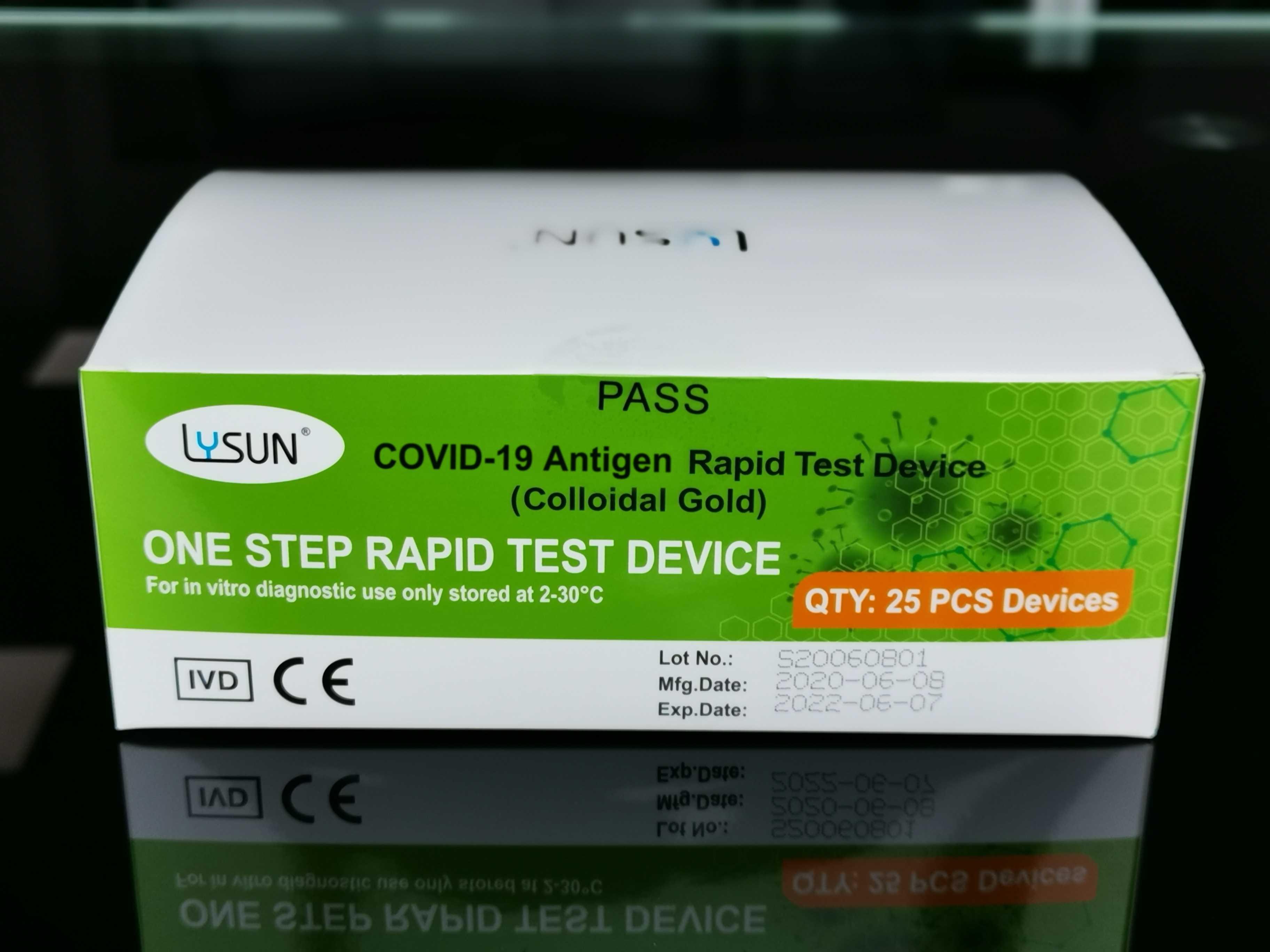 LYSUN COVID-19 Antigen Schnelltest (Colloidal Gold) 25 Stück