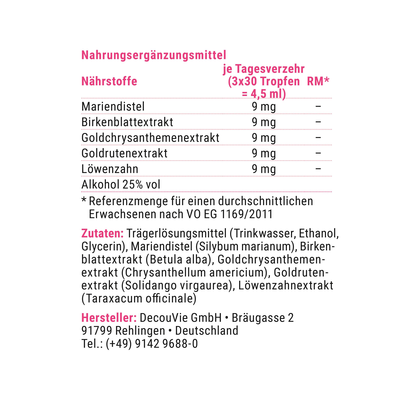 Draineur Basic, zur Prophylaxe gegen Stoffmängel und Stoffwechselunterstützung, 100 ml