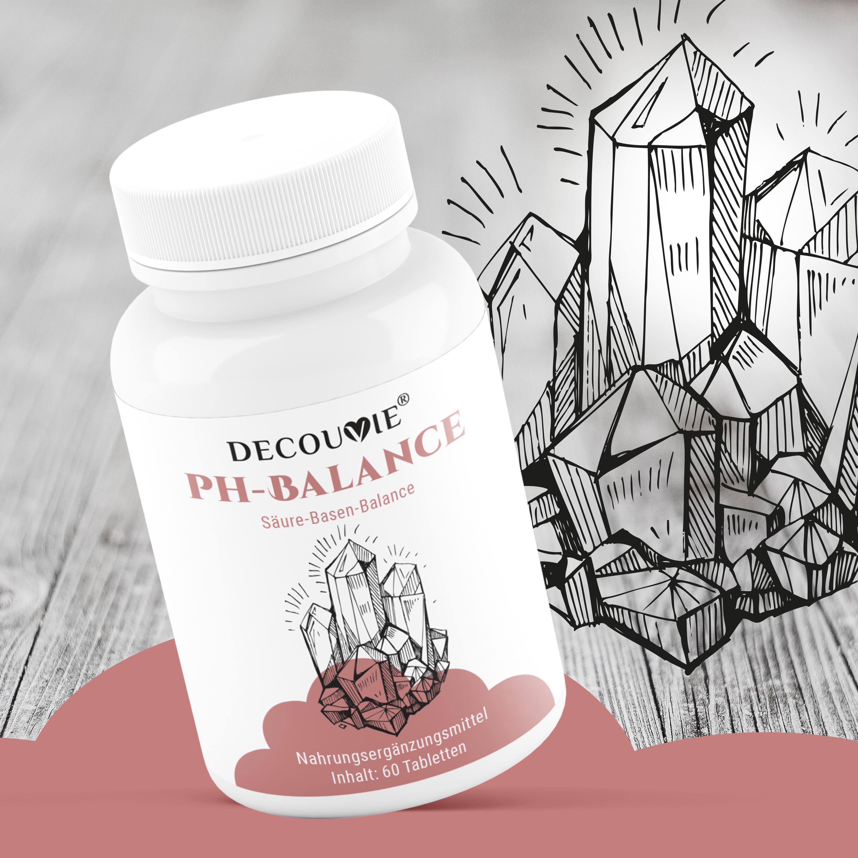 PH-Balance, zur Ergänzung von Kalzium und Regulation von Säure-Base Gleichgewicht, 60 Tabletten